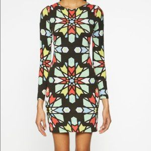 Mara Hoffman Kaleidoscope Long Sleeve Cutout Dress